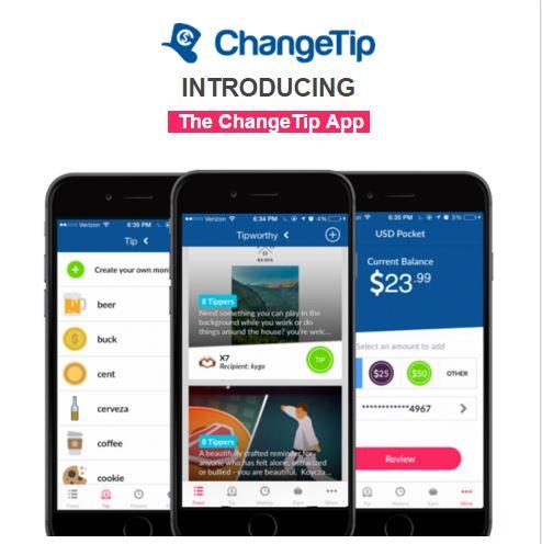 ChangeTip app