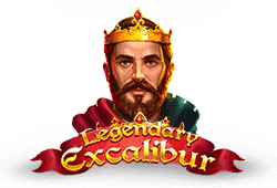 Red tiger gaming - Legendary Excalibur slot logo
