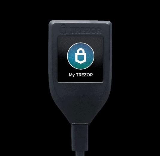 Trezor Model T bitcoin wallet